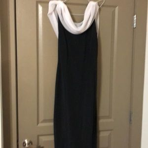 Night way Collections, Holiday Gown, Black, white